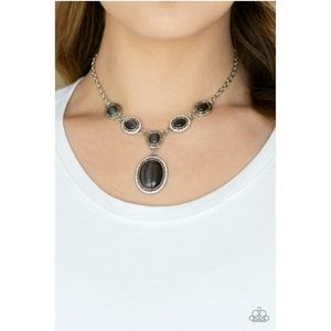 Metro Medallion Moonstone Necklace